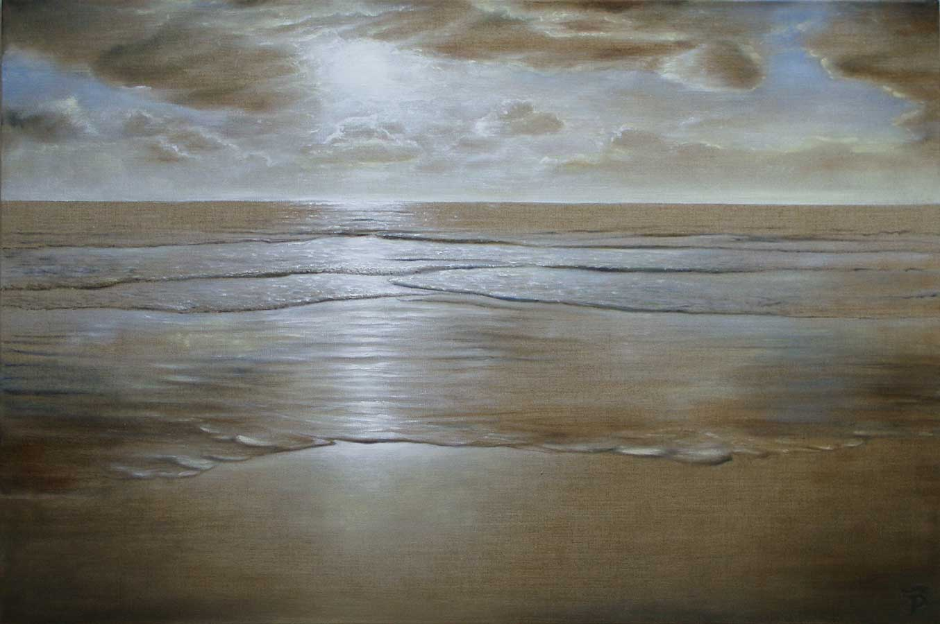 2021 -warmer Sand- 120 x 80 cm